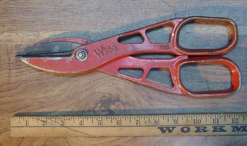 Old used tools,wiss-w12l cutting shears,aluminum body,stainless steel blades,12""
