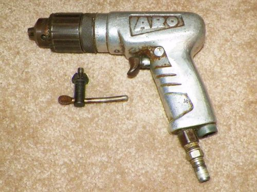 "Vintage aro pneumatic3/8"" drill model 7386c with chuck key."
