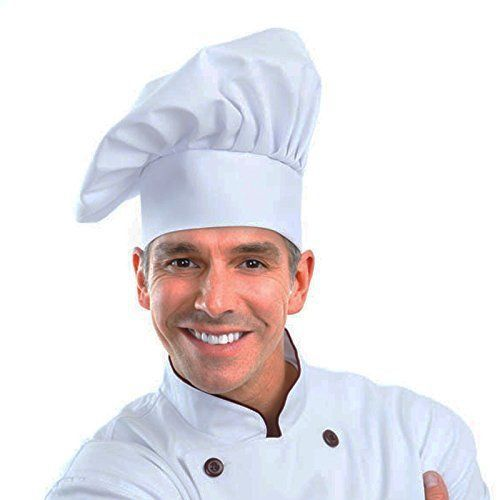 Chef hat adjustable elastic baker kitchen cooking hat by wearhometm 1pack
