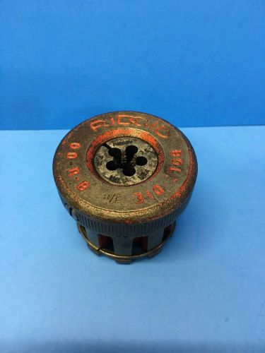 "Ridgid 00-r-b  bolt pipethreader 3/8"" 16 complete die head"