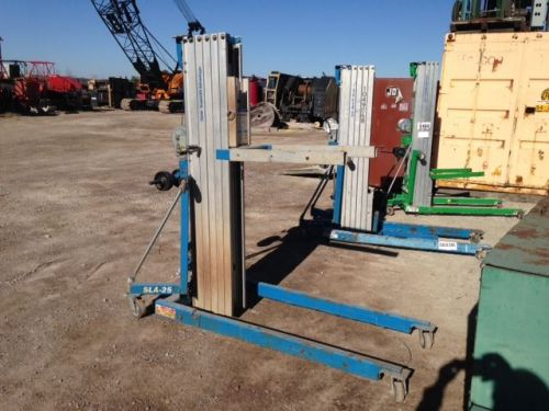 Used genie sla-25 super lift advantage material duct lift good shape 650# cap