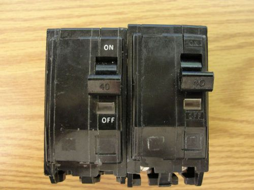 *square d* 2-qob240 circuit breaker 3 pole  120/240v *used*