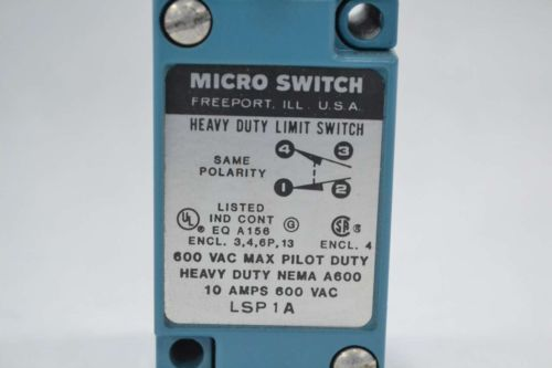 NEW MICRO SWITCH LSP1A HONEYWELL ROLLER LIMIT SWITCH 600V-AC 10A AMP B360788, US $19.75 � Picture 2