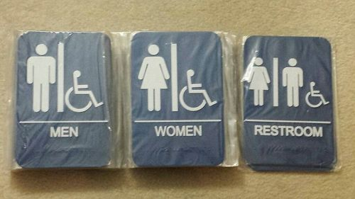 Ada compliant eaglestone products restroom signs - 30