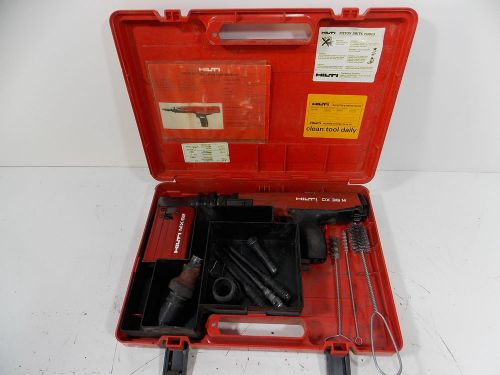 Nice hilti dx 36m with mx62 magazine works great extra pistons + case and extras