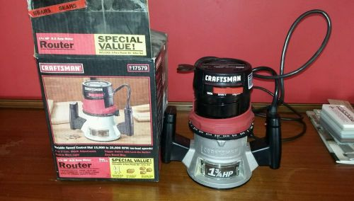 Craftsman double iinsulated 25000 r.p.m 1-3/4 hp 8.5 amp wood router with box
