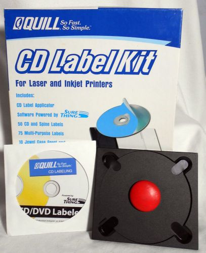 Quill brand cd label starter kit label applicator software powered by sure thing