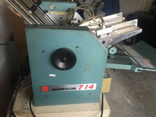 Baumfolder 714 paper folder, with air system
