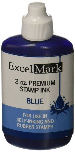 Self inking stamp refill ink - 2 oz. - blue ink