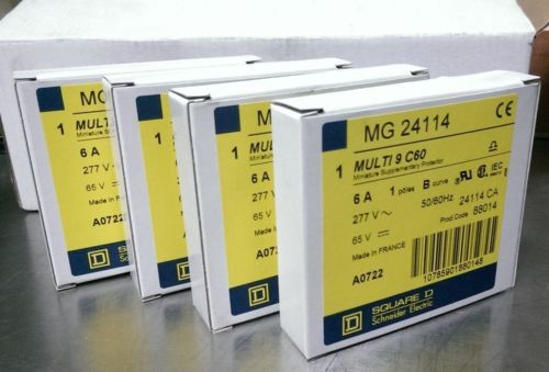LOT OF 4 SQUARE D MG24114 MULTI 9 C60 6A. 1POLE B/CURVE/277VAC/65VDC/50/60 Hz., US $64.00 � Picture 5