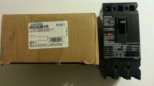 Siemens hhed63m125 3 pole 125 amp ( new in box )