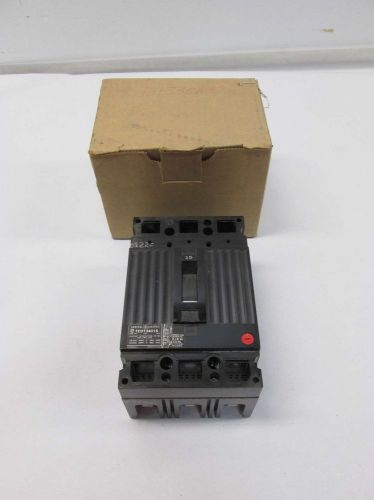 New ge ted134015wl 3p 15a amp 480v-ac molded case circuit breaker d402135
