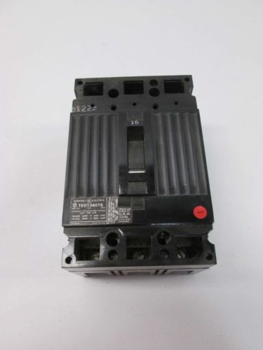 NEW GE TED134015WL 3P 15A AMP 480V-AC MOLDED CASE CIRCUIT BREAKER D402135, US $45.25 � Picture 2