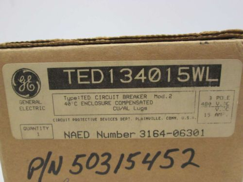 NEW GE TED134015WL 3P 15A AMP 480V-AC MOLDED CASE CIRCUIT BREAKER D402135, US $45.25 � Picture 8