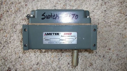 Ametek gemco rotary limit switch  2000-2726 - ratio 2:1