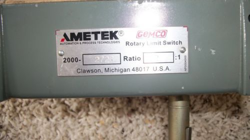 AMETEK Gemco Rotary Limit Switch  2000-2726 - Ratio 2:1 � Picture 2