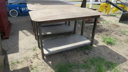Heavy duty welding shop table, 30 inch x 57 inch, with shelf