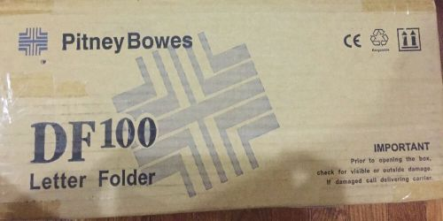 New pitney bowes df100 desktop letter folder, not power include, open box
