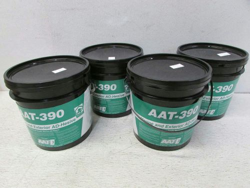 Lot of 4 aat marine and exterior ad-hesive 1 gallon buckets aat-390