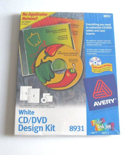 Avery 8931 cd dvd label kit - software, 30 disc labels, 30 jewel case inserts