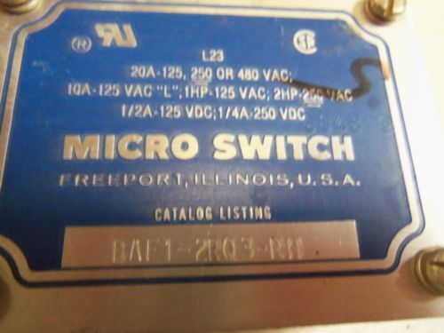 MICROSWITCH BAF1-2RQ3-RH LIMIT SWITCH *USED*, US $70.00 � Picture 3