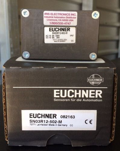 New euchner limit switch sn03r12-502-m