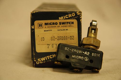 Honeywell BZ-2RQ81-A2 Micro Limit Switch 15A 125 250 480 VAC New Box of 10, US $125.00 � Picture 1
