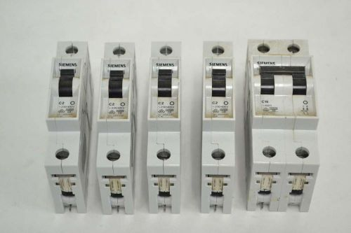 LOT 5 SIEMENS ASSORTED 5SX21-C2 5SX22-C16 230/400V-AC CIRCUIT BREAKER B352502, US $11.46 � Picture 1