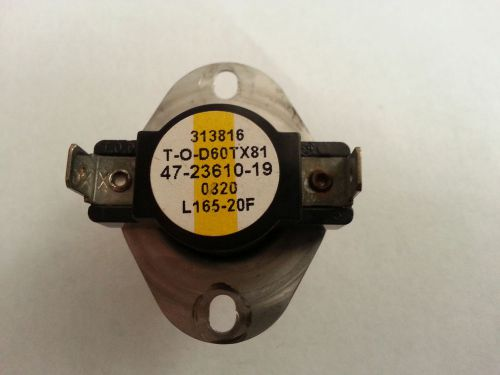 T.o.d. 60tx81-313816/rheem/ruud 47-23610-19 limit switch control 313816