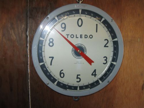 Vintage Toledo Produce Hanging Scale 2110 Double Sided Dial 30 lbs