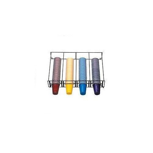 DISPENSE RITE WR CT 4 4 SECTION BEVERAGE CUP DISPENSING RACK