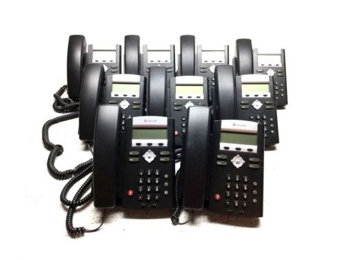 Lot of 9 polycom soundpoint ip 331 phone 2201-12365-001 w/ handsets & stands