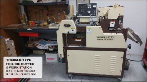 Therm-o-type super sf-200 foil and embossing press