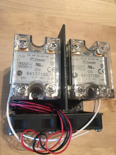 Crouzet - 84137180 - 125a 48-660vac -pair of relays & heat sinks & fans