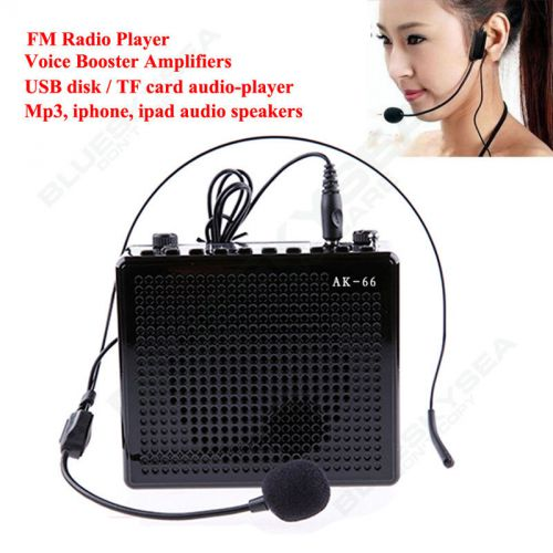 Aker ak66 20w waistband portable voice amplifier booster w/ headset mic for mp3