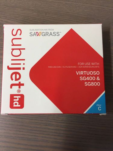New sealed sawgrass sublimation ink for hd virtuoso sg400/sg800 cyan