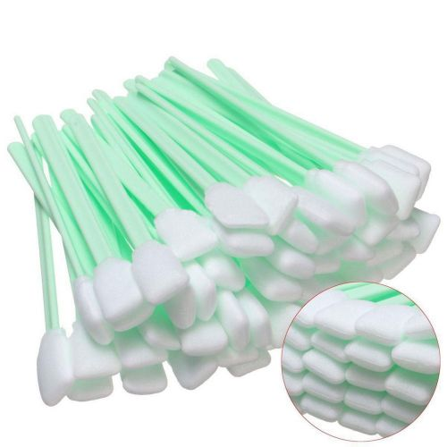 50pcs foam tipped solvent cleaning swab for inkjet printer swabs camera lens #as