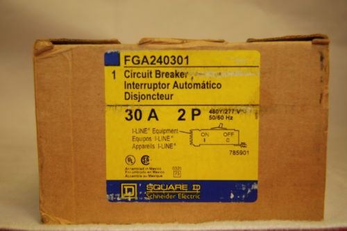 SQUARE D FGA240301 Circuit Breaker 30A 2 Pole 480V 30 Amp 50/60 Hz  I-Line NIB, US $245.00 – Picture 3