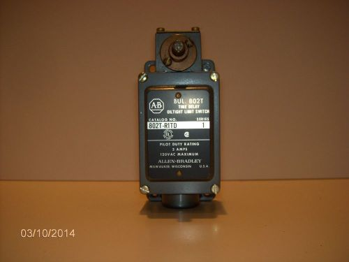 Allen bradley 802t-r1td series 1 time delay oiltight limit switch