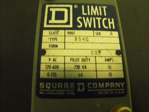 Square D Limit Switch , type B54C , Class 9007 , Series A , DXF, US $30.00 � Picture 4