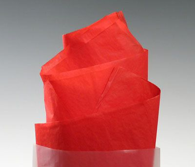 "20"" x 30"" 10 lb. gift grade tissue paper sheets - scarlet (480 sheets)"