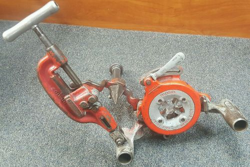 Ridgid 311 carriage, 360 cutter, 341 reamer 811a die head