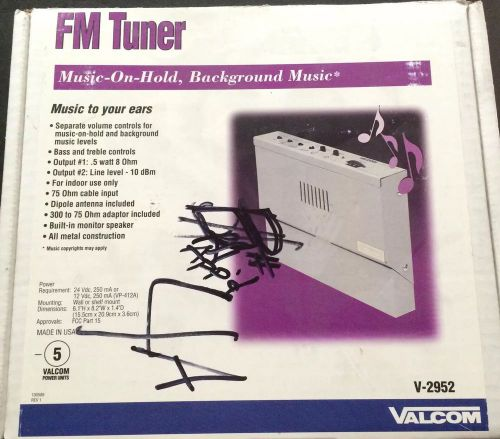 Valcom FM Tuner Music On Hold And Background .5 Watt 8 Ohm V2952 � Picture 1