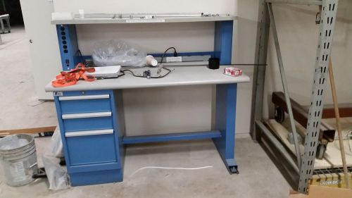 Lista technical workbench with (3) drawer cabinet with instrument riser shelf