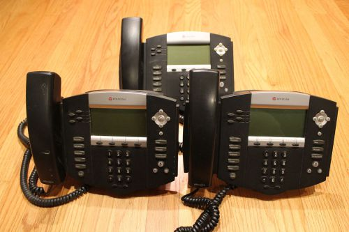 Lot of 3 polycom soundpoint ip550 w/ handset audio conferencing