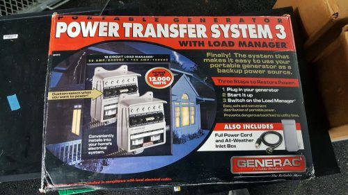 Generac portable generator power transfer system3 with load manager 12000 watts