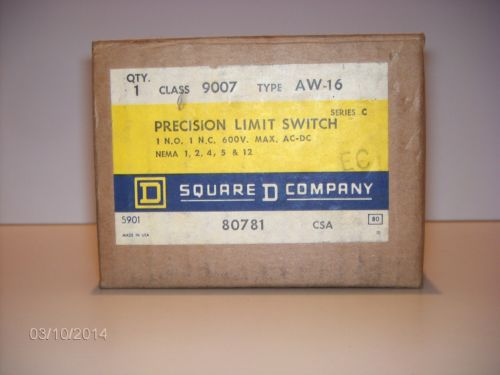 NEW SQUARE D 9007-AW-16 LIMIT SWITCH, US $65.00 � Picture 2