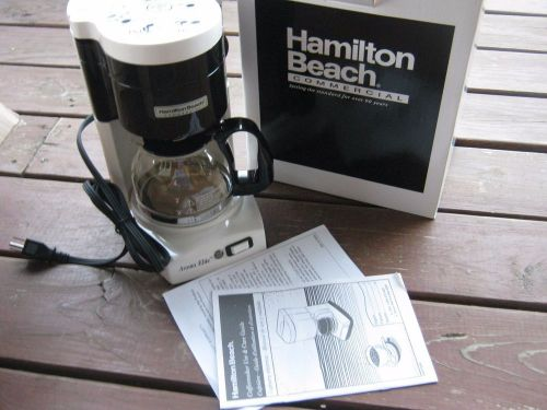 $75.00 each new hamilton beach 4 cup white commercial coffee maker hdc500w