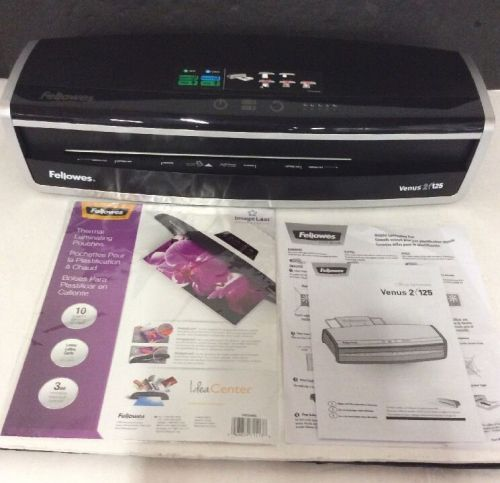 Fellowes venus2 125 pouch laminator 5734801 with starter pouches
