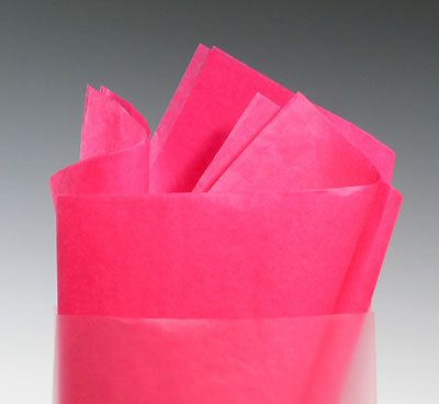 "20"" x 30"" 10 lb. gift grade tissue paper sheets - cerise (480 sheets)"